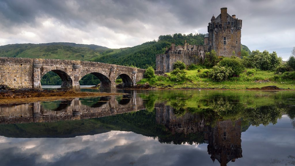 Eilean Donan castle in the western Highlands of Scotland, UK
