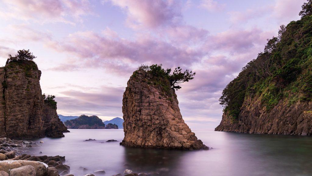 Morning view of the sea at Futou coast in Izu peninsula, Shizuoka, Japan