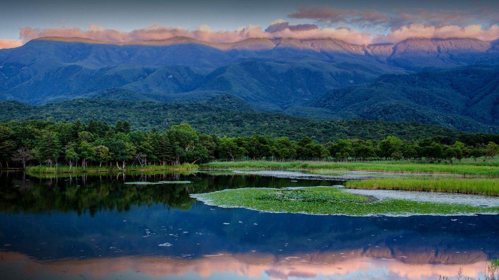 Dusk at Shiretoko National Park, Hokkaido, Japan