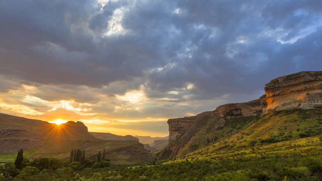 Sunset at Golden Gate Highlands National Park, Free State, South Africa