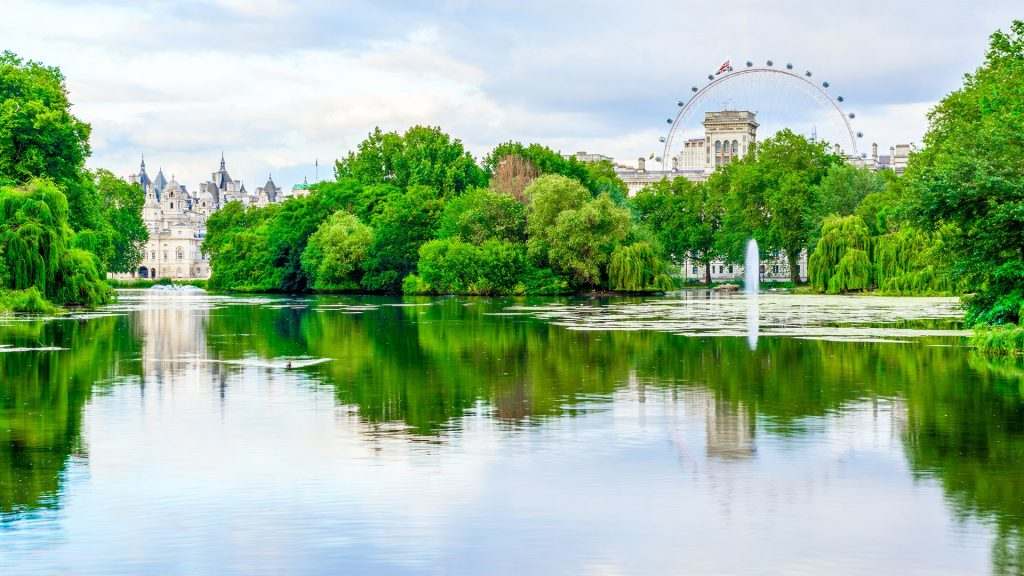 St James's Park during daytime, City of Westminster in central London, England, UK