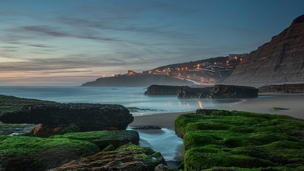 Sunset at Magoito beach, Sintra, Portugal