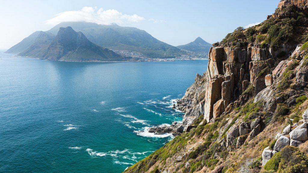 View on The Sentinel from Chapman's Peak Drive, Cape Peninsula, South Africa