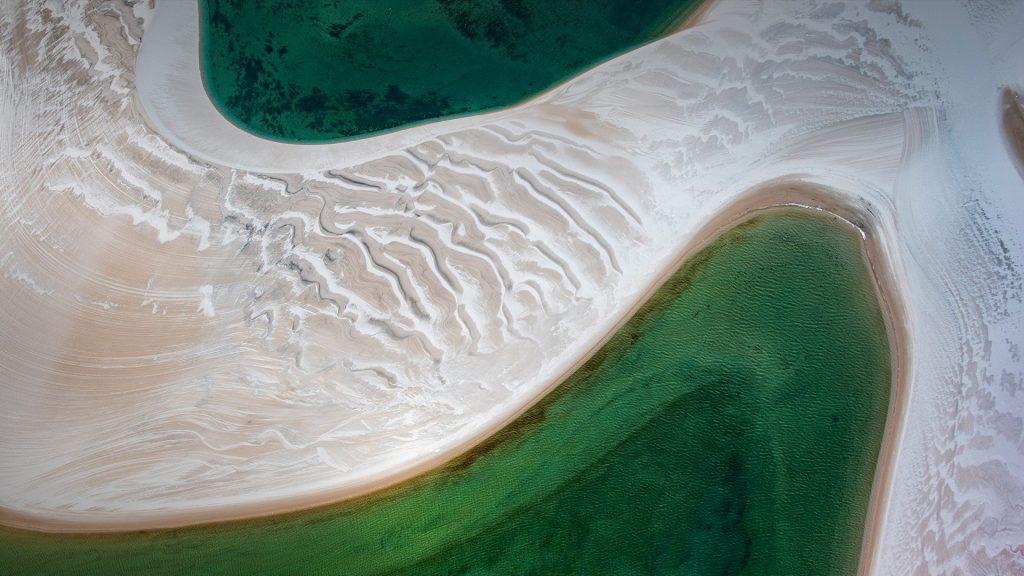 Sand dunes at Rio Negro (Black River), Lençóis Maranhenses National Park, Brazil
