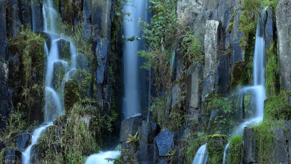Steinhöfer waterfall in the mountain park Bergpark Wilhelmshöhe, Kassel, Germany