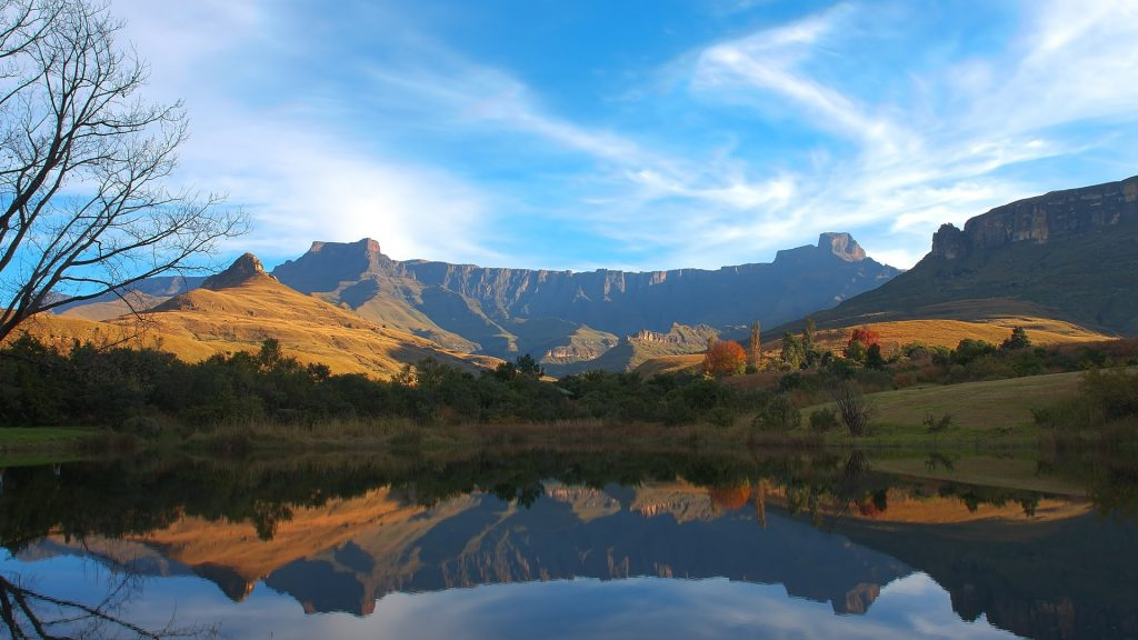 Mont-Aux-Sources Amphitheatre at Drakenberg Mountains in South Africa