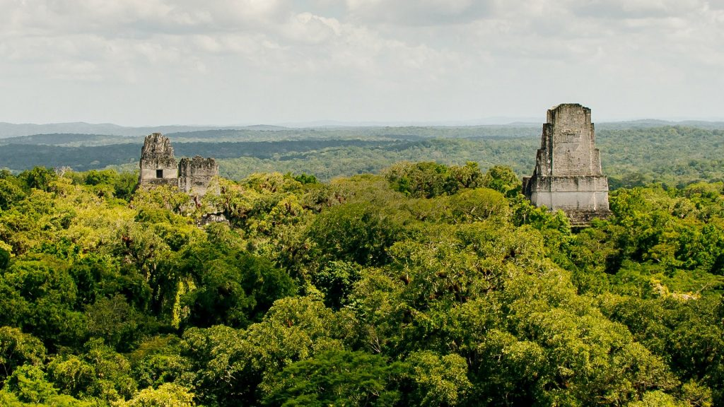 Tikal National Park ancient city ruins in a rainforest, El Petén, Guatemala