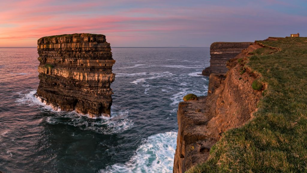 Dún Briste sea stack at Downpatrick Head, County Mayo, Wild Atlantic Way, Ireland
