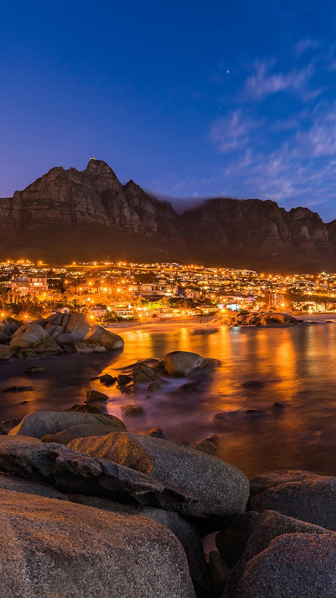 View Of Cape Town U0026 39 S Table Mountain  Lions Head  U0026 Twelve