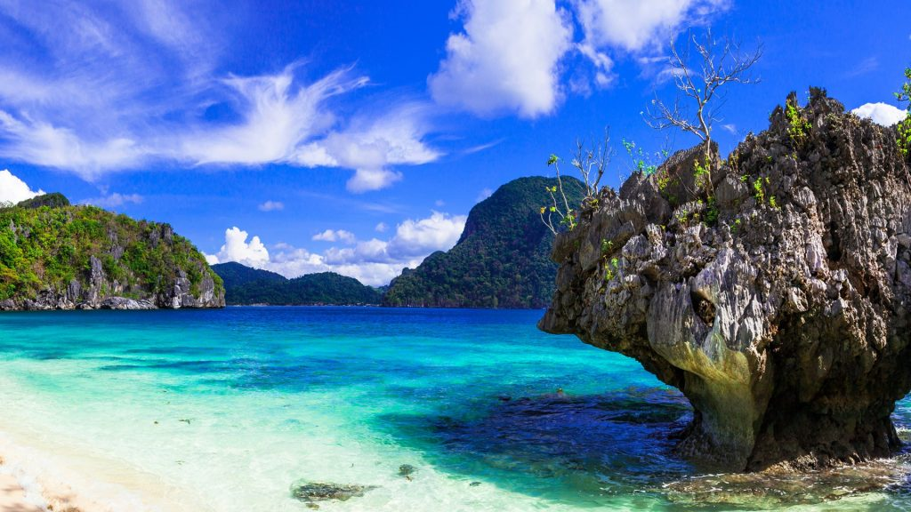 Incredible wild beauty of Philippines islands, Palawan, El Nido