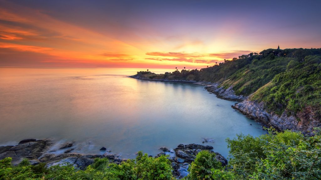 Sunset at Laem Phrom Thep Cape, Phuket, Thailand