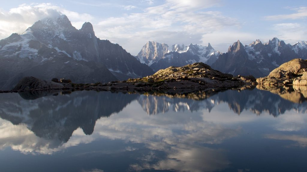 Scenic view of mountains against sky, Chamonix-Mont-Blanc, France