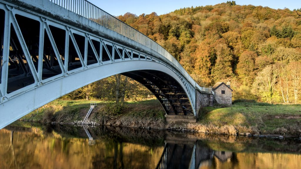 Bigsweir bridge over the river Wye near Monmouth, Monmouthshire, Wales, UK