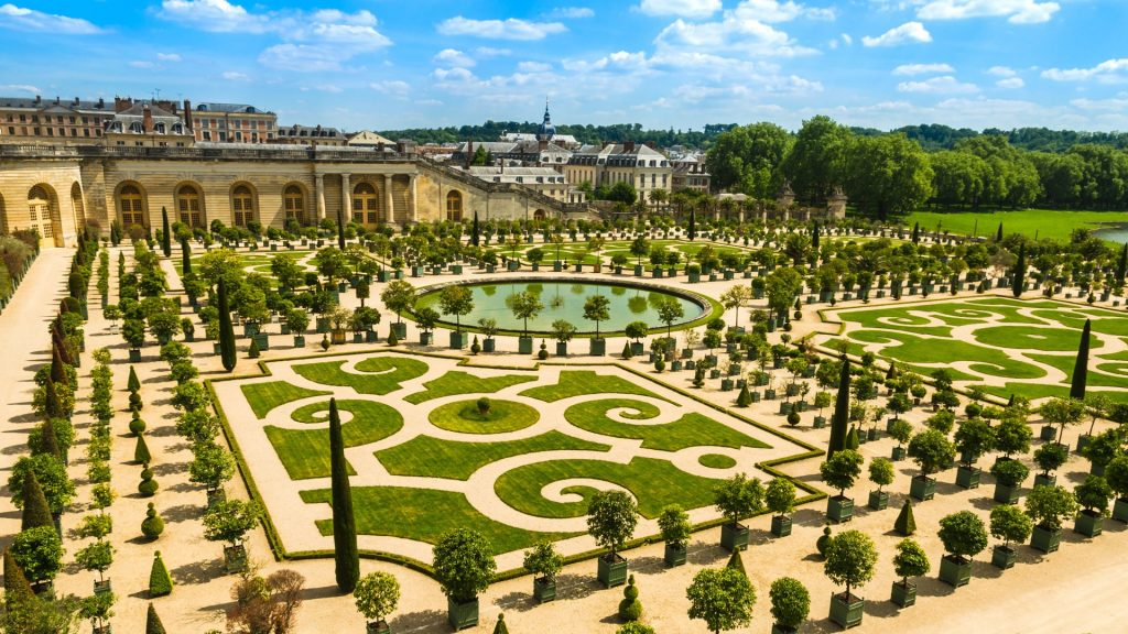 Gardens of the Versailles Palace near Paris, France