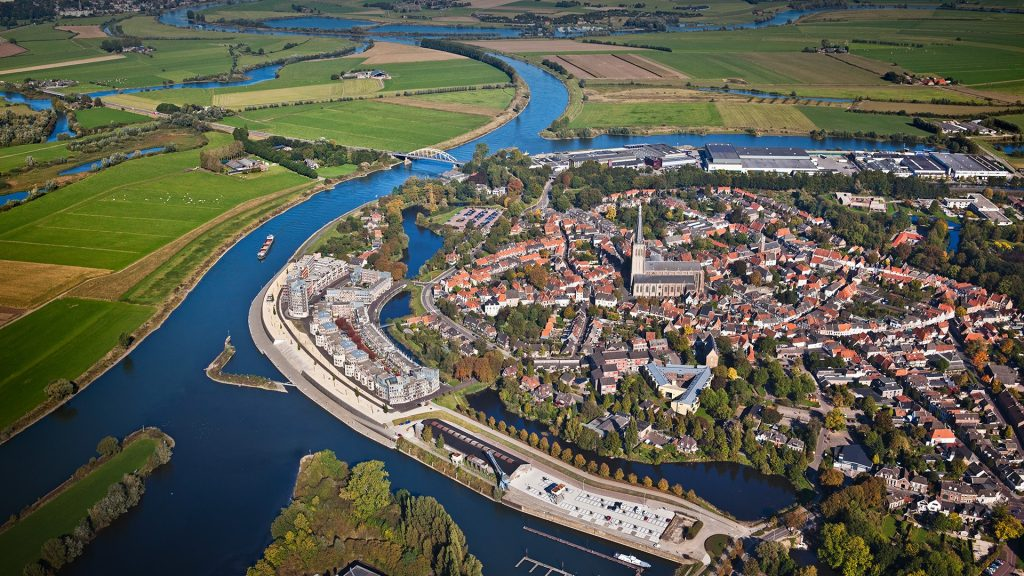Fortified city at IJssel river, Doesburg, Gelderland, Netherlands