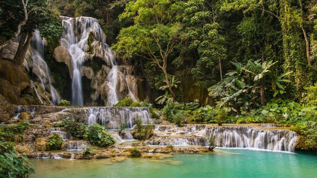 Tat Kuang Si Waterfalls, Luang Prabang, Laos