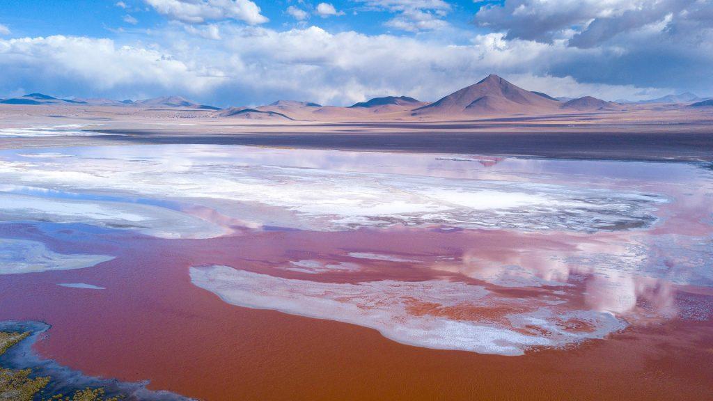 Laguna Colorada on Eduardo Avaroa Andean Fauna National Reserve in Uyuni, Bolivia