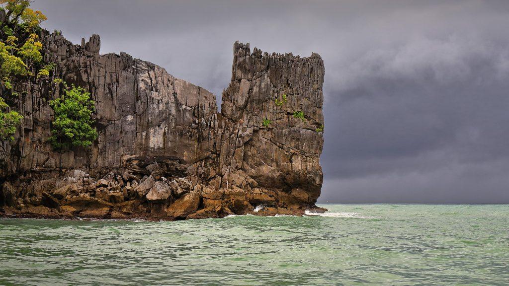 Rock formation in Saint Paul bay, Puerto Princesa, Palawan, Philippines