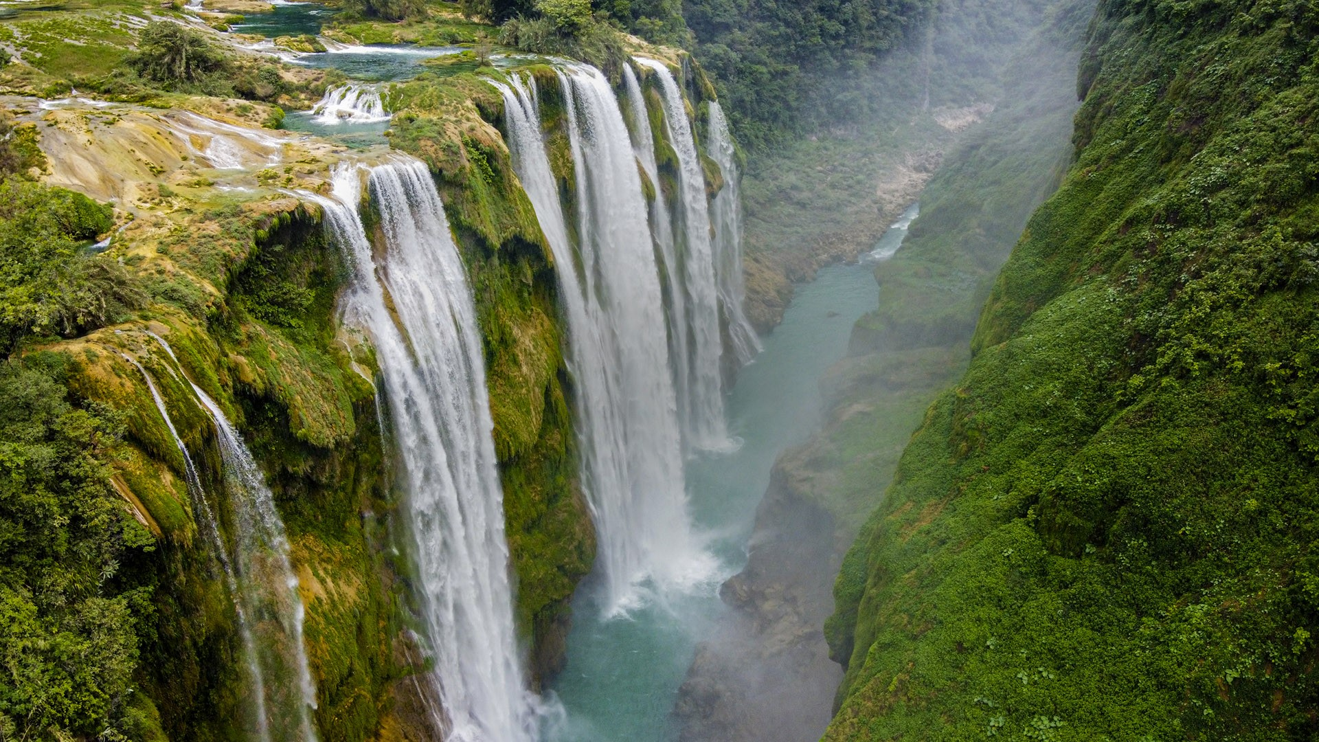 Tamul Waterfalls Huasteca Potosina San Luis Potosi Mexico Windows 10 Spotlight Images