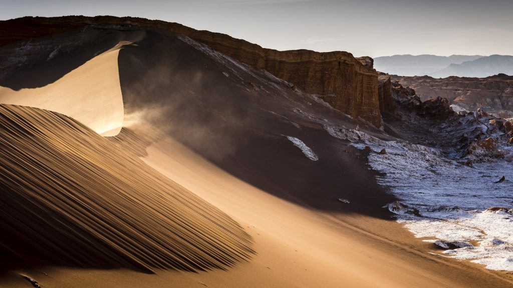 Sand dune in Valley of the Moon, Los Flamencos National Reserve, Atacama Desert, Chile