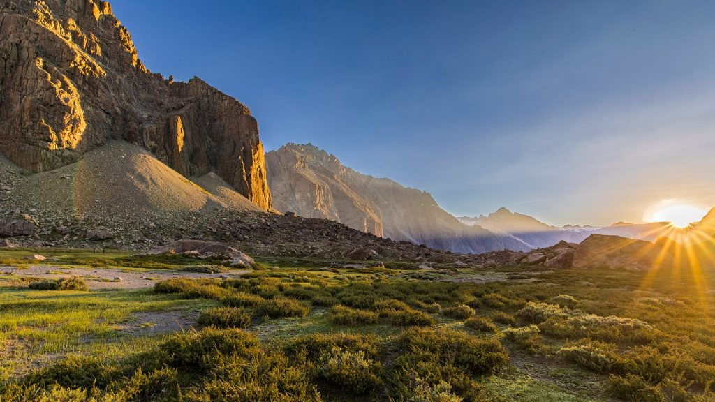 Sunset La Engorda Valley, San José de Maipo, Chile