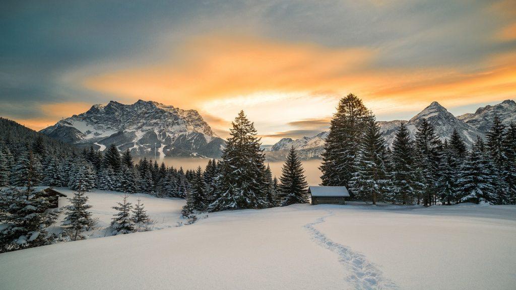 A winter landscape in Tyrol, Austria