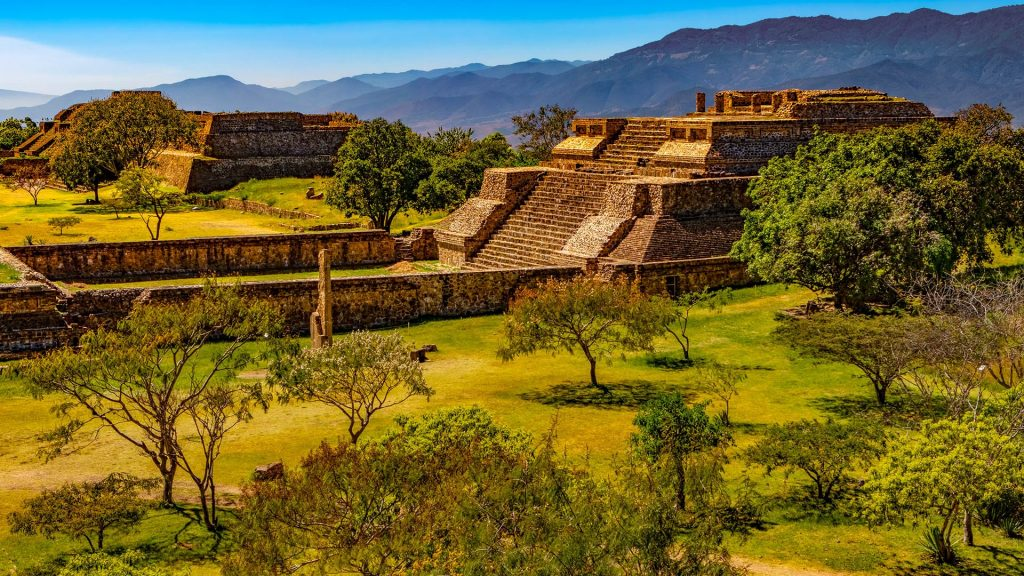 Archaeological site of Monte Albán, Santa Cruz Xoxocotlán, Oaxaca, Mexico