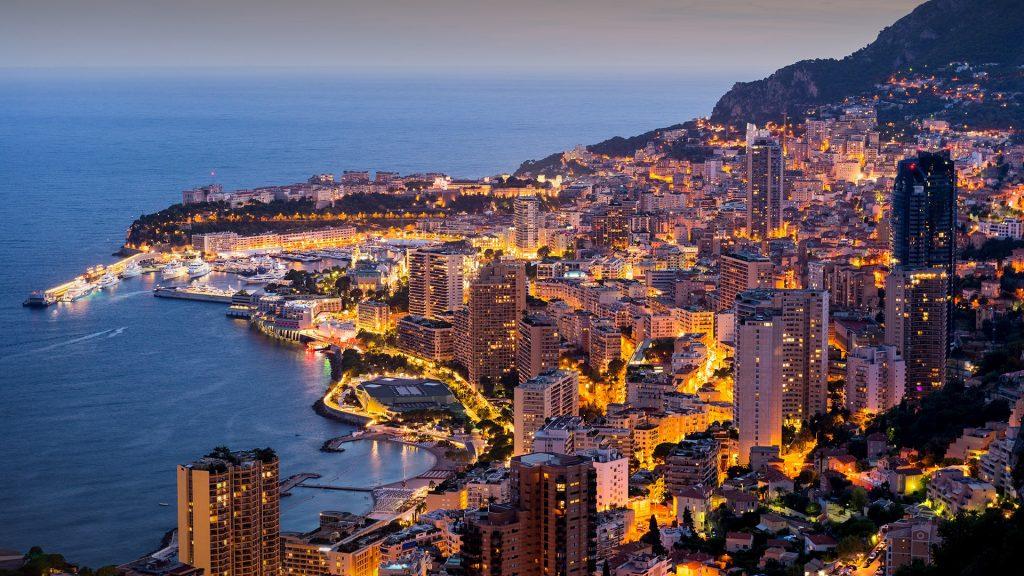 Monaco harbour at twilight, Monte Carlo