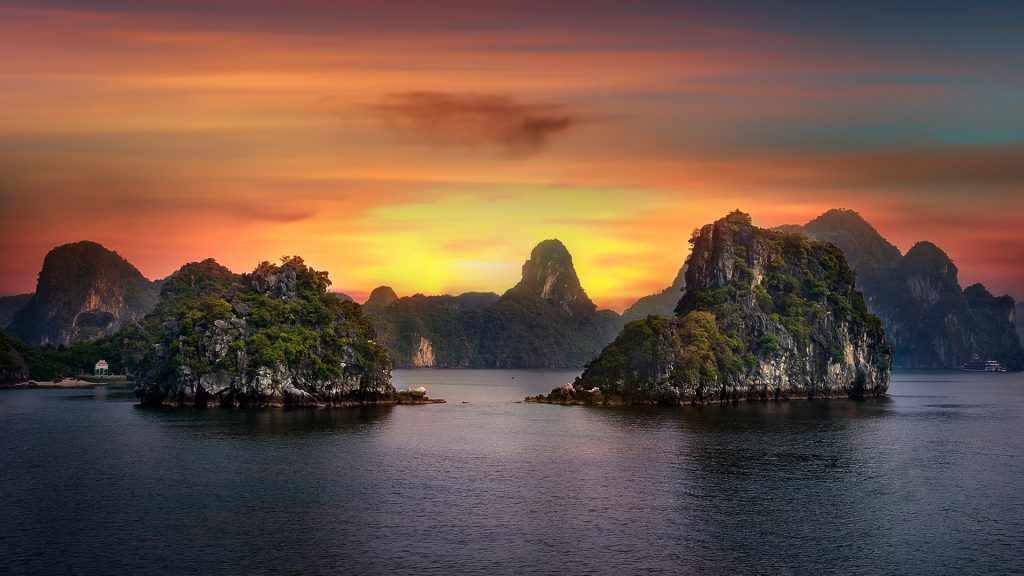The Jewels of Hạ Long Bay in the Gulf of Tonkin, Quảng Ninh, Vietnam