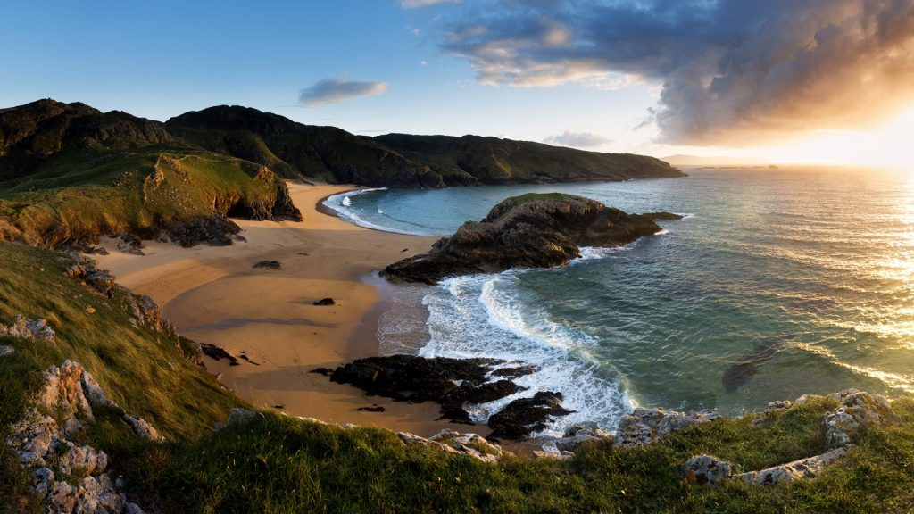 Sunset at the Murder Hole Beach, Rosguill, Donegal, Ireland
