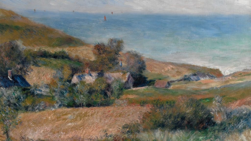 View of the seacoast near Wargemont in Normandy, France, 1880, Auguste Renoir