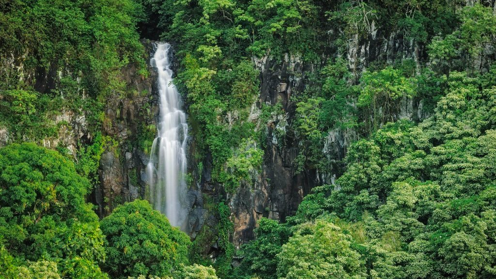 Wailua Falls, Kipahulu District, Hana Coast, Maui, Hawaii, USA