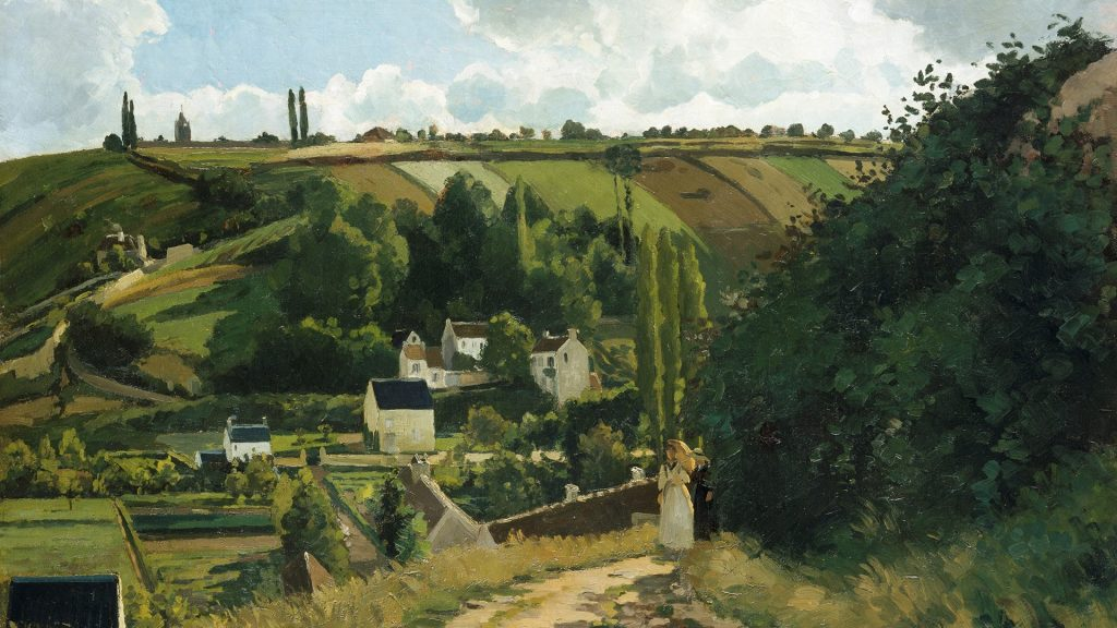 Jalais Hill, Pontoise, France, painting by Camille Pissarro, 1867