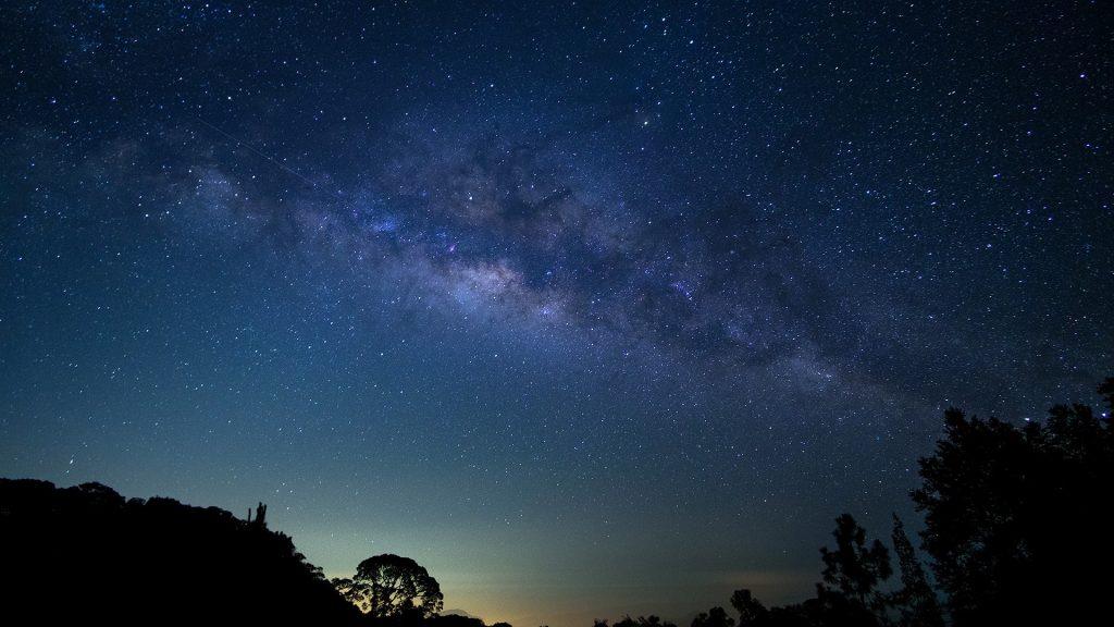 Milky Way at Doi Inthanon National Park, Chiang Mai, Thailand
